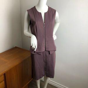 RW & Co. Purple pleated sleeveless dress